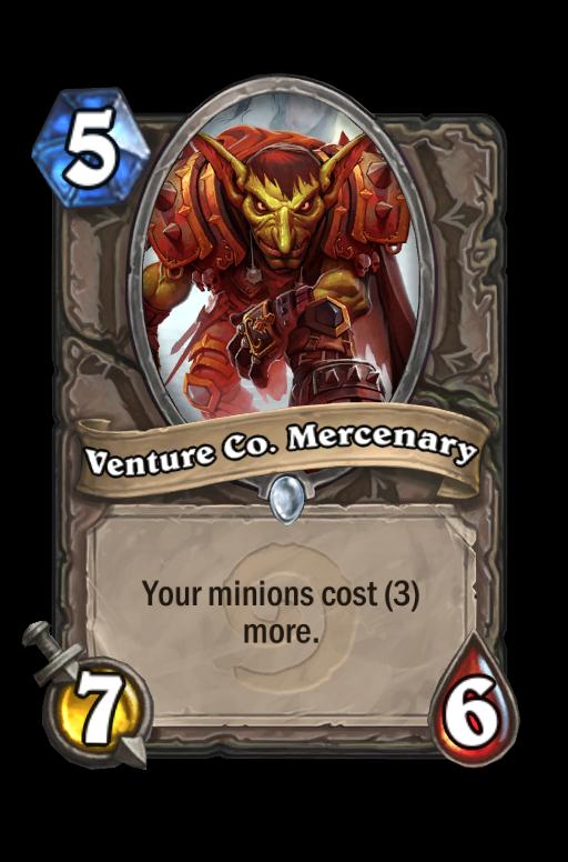 Venture Co. Mercenary Hearthstone kártya
