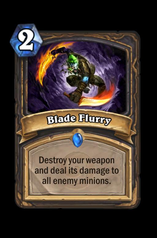 Blade Flurry Hearthstone kártya