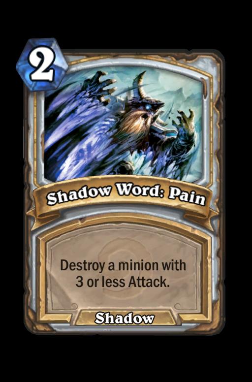 Shadow Word: Pain Hearthstone kártya