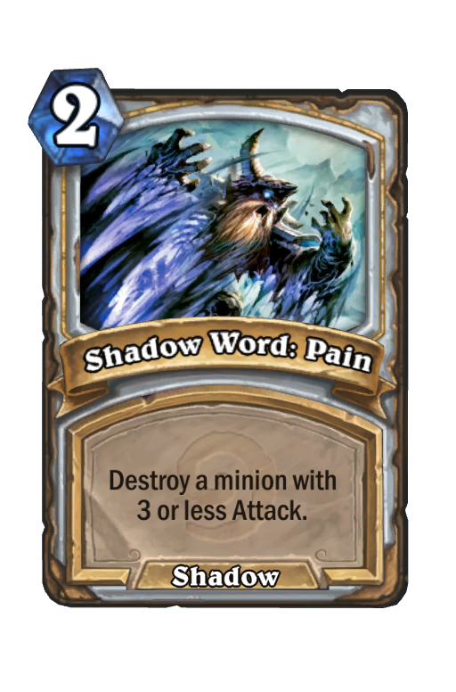 Shadow Word: Pain Hearthstone kártya