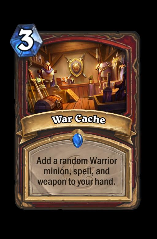 War Cache Hearthstone kártya