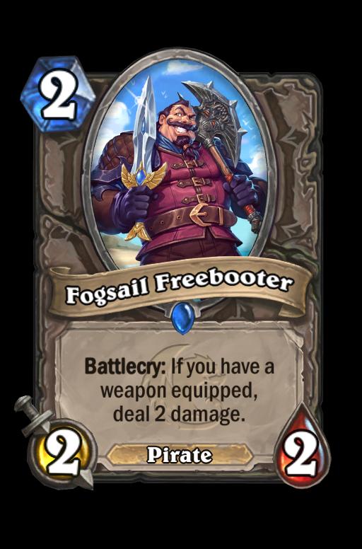 Fogsail Freebooter Hearthstone kártya