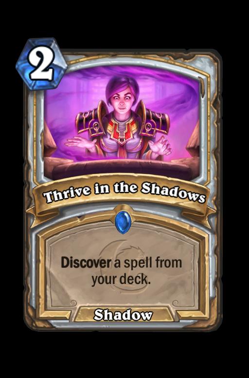 Thrive in the Shadows Hearthstone kártya