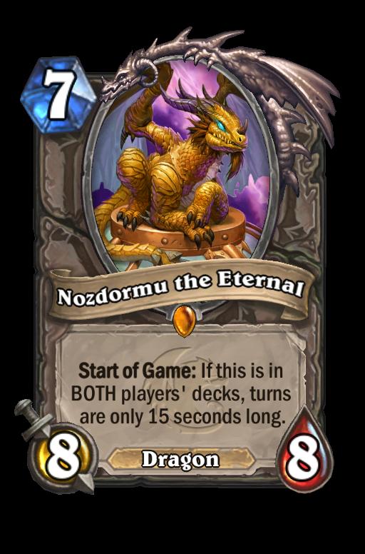 Nozdormu the Eternal Hearthstone kártya
