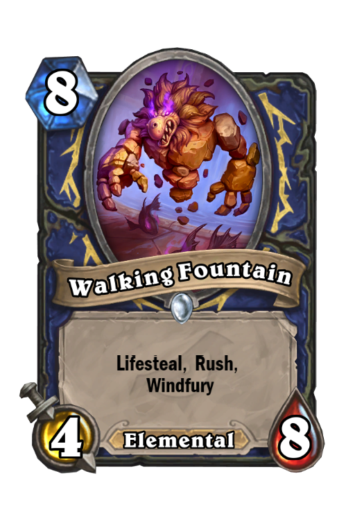Walking Fountain Hearthstone kártya
