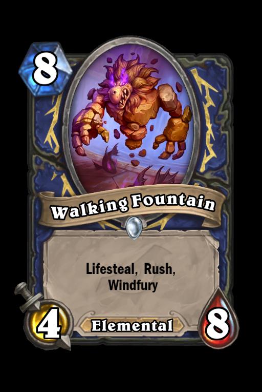 Walking Fountain Hearthstone kártya