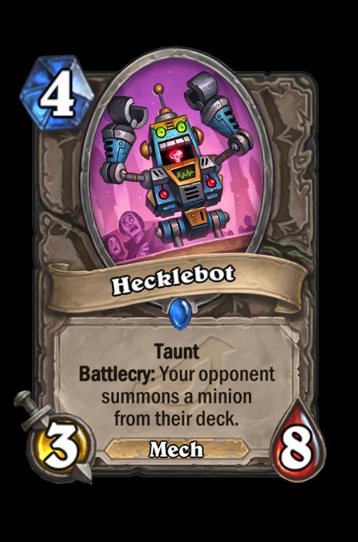 Hecklebot Hearthstone kártya