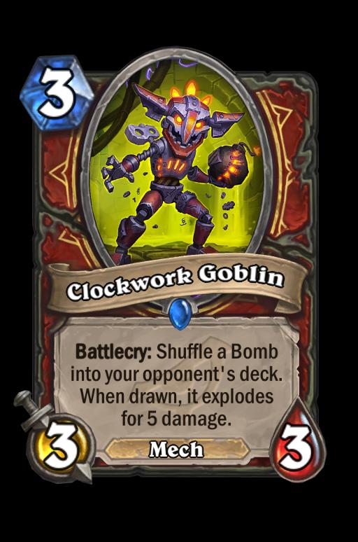 Clockwork Goblin Hearthstone kártya