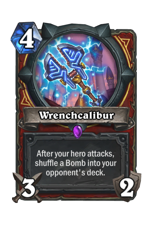 Wrenchcalibur Hearthstone kártya