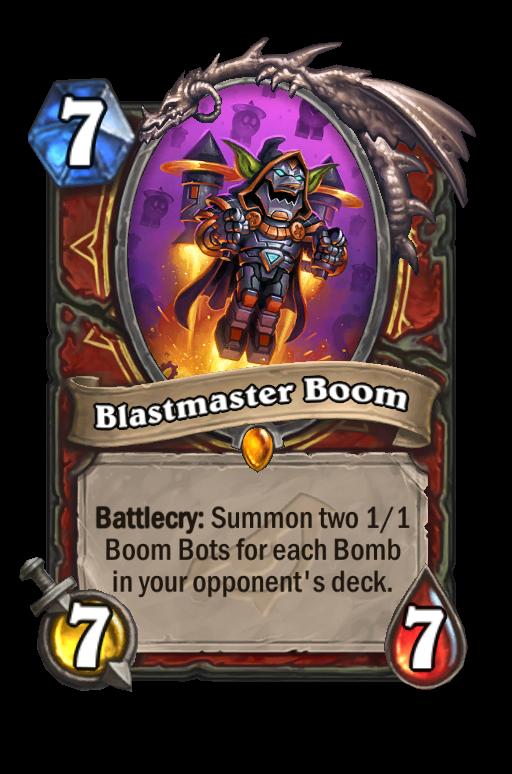 Blastmaster Boom Hearthstone kártya