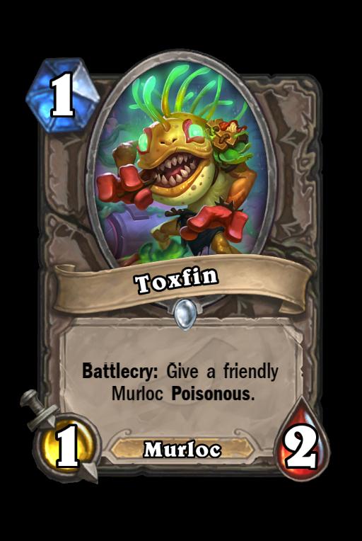Toxfin Hearthstone kártya
