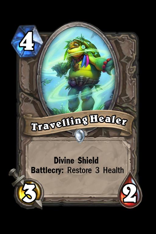 Travelling Healer Hearthstone kártya