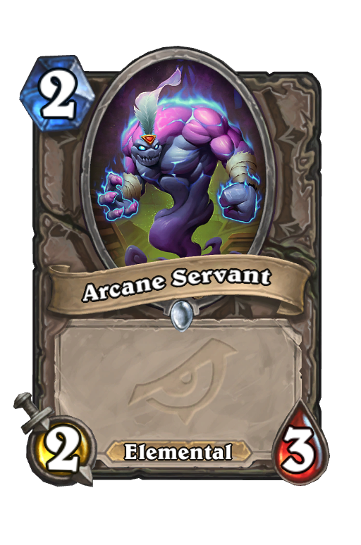 Arcane Servant Hearthstone kártya