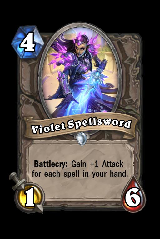 Violet Spellsword Hearthstone kártya