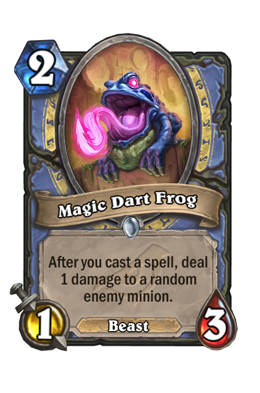 Magic Dart Frog Hearthstone kártya