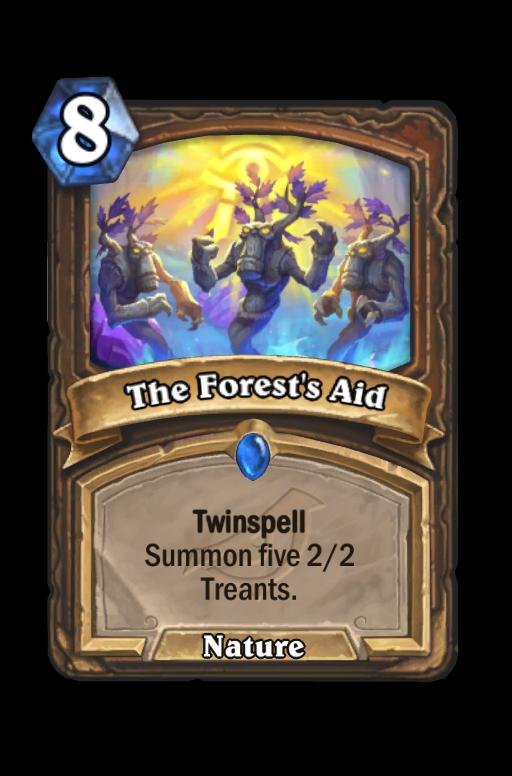 The Forest's Aid Hearthstone kártya