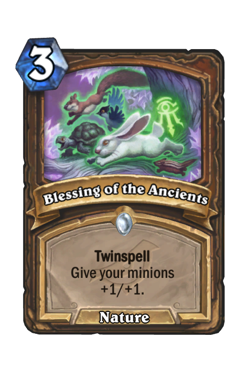 Blessing of the Ancients Hearthstone kártya