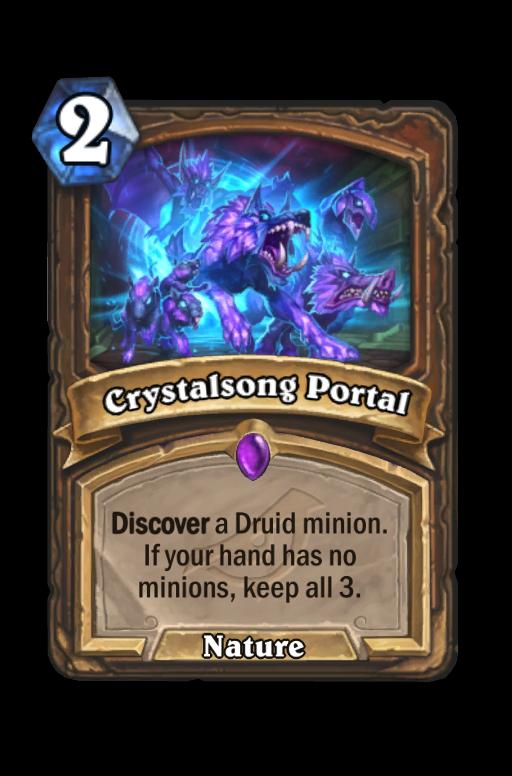 Crystalsong Portal Hearthstone kártya