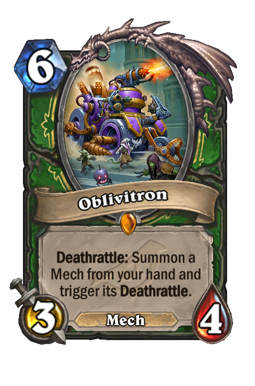 Oblivitron Hearthstone kártya