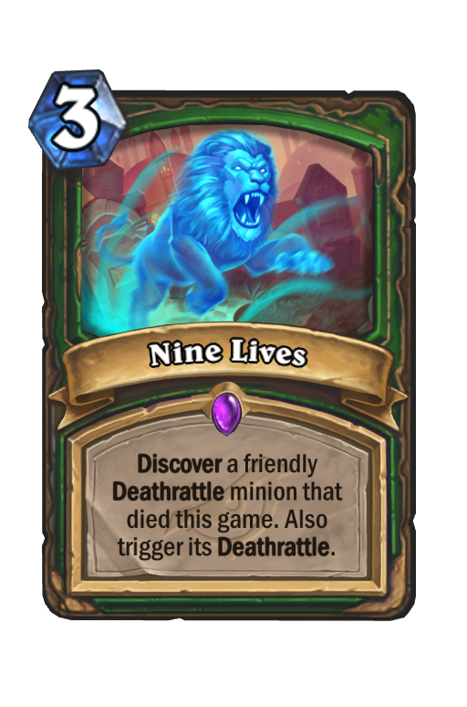 Nine Lives Hearthstone kártya