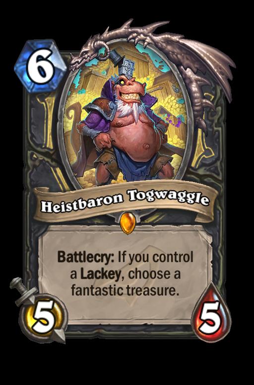 Heistbaron Togwaggle Hearthstone kártya