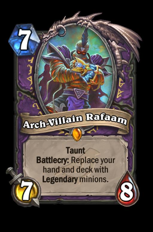 Arch-Villain Rafaam Hearthstone kártya