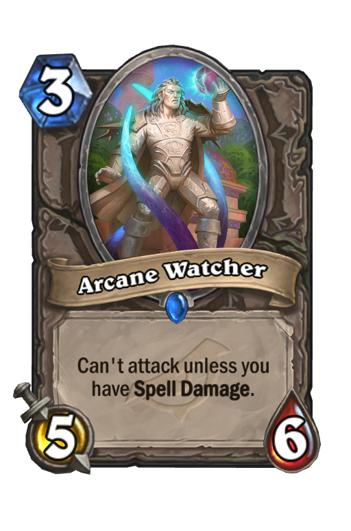 Arcane Watcher Hearthstone kártya