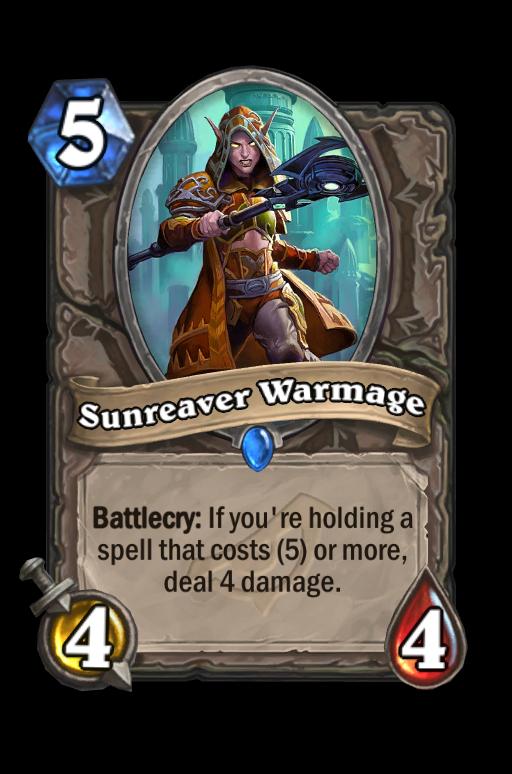 Sunreaver Warmage Hearthstone kártya