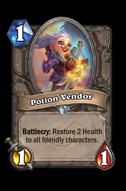 Potion Vendor Hearthstone kártya