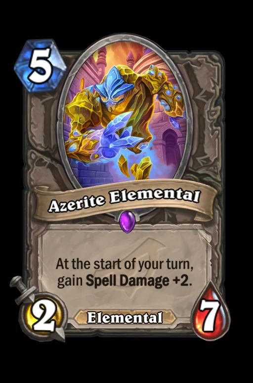 Azerite Elemental Hearthstone kártya