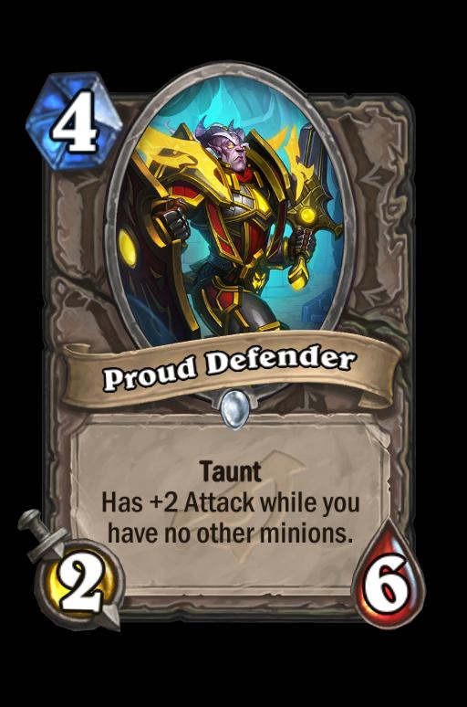 Proud Defender Hearthstone kártya