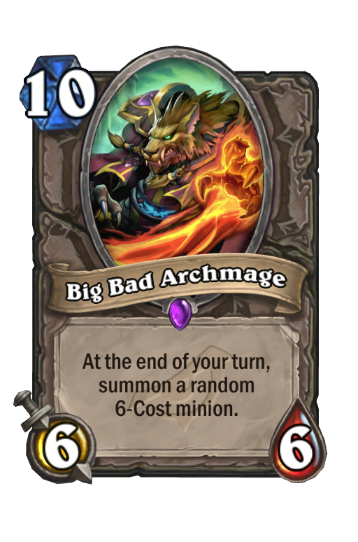 Big Bad Archmage Hearthstone kártya