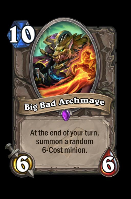 Big Bad Archmage Hearthstone kártya