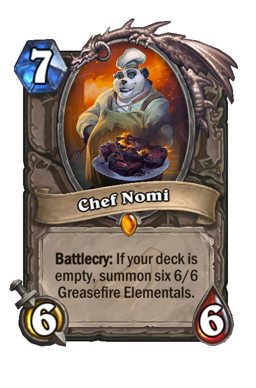 Chef Nomi Hearthstone kártya