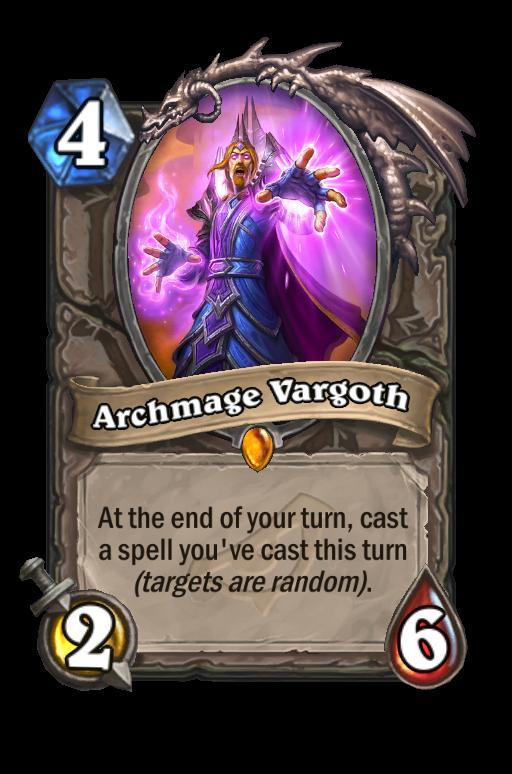 Archmage Vargoth Hearthstone kártya