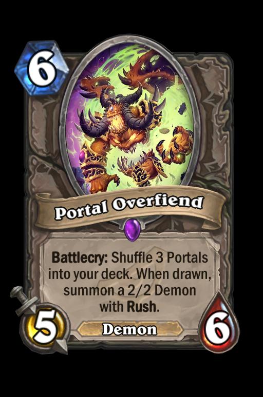 Portal Overfiend Hearthstone kártya