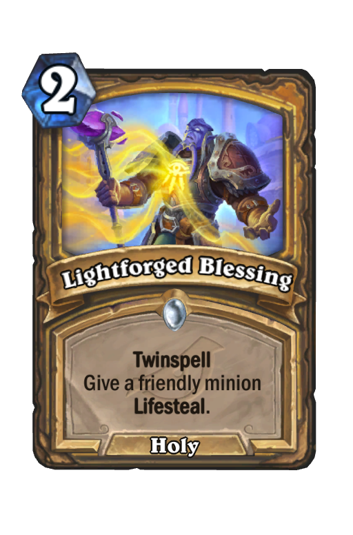 Lightforged Blessing Hearthstone kártya