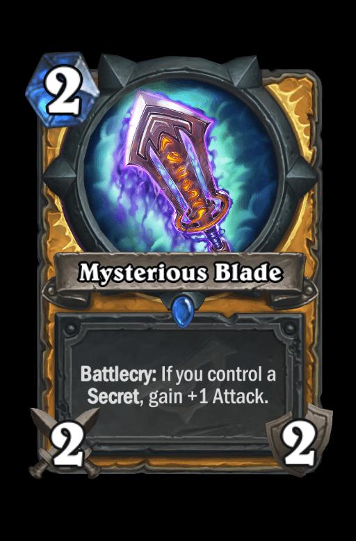 Mysterious Blade Hearthstone kártya