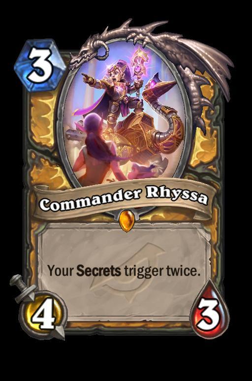 Commander Rhyssa Hearthstone kártya