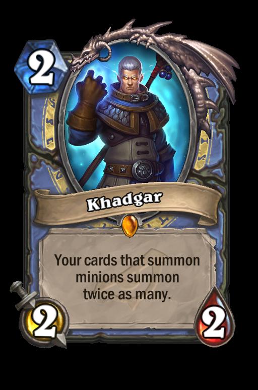 Khadgar Hearthstone kártya