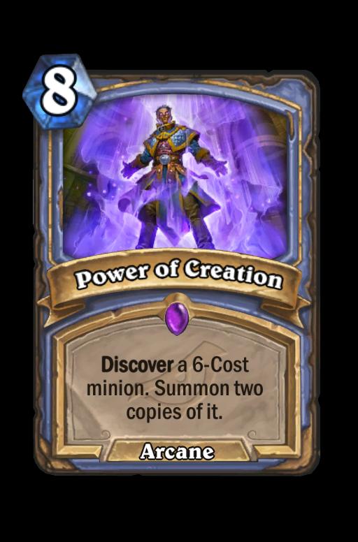 Power of Creation Hearthstone kártya
