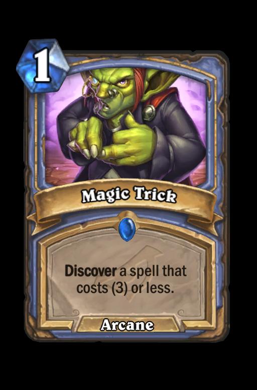 Magic Trick Hearthstone kártya