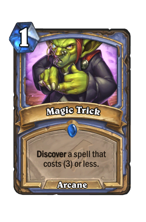 Magic Trick Hearthstone kártya
