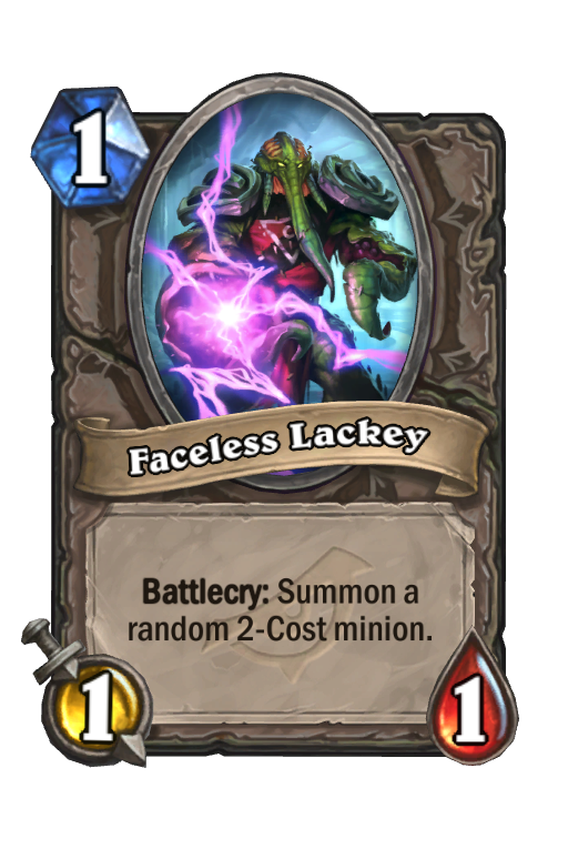 Faceless Lackey Hearthstone kártya