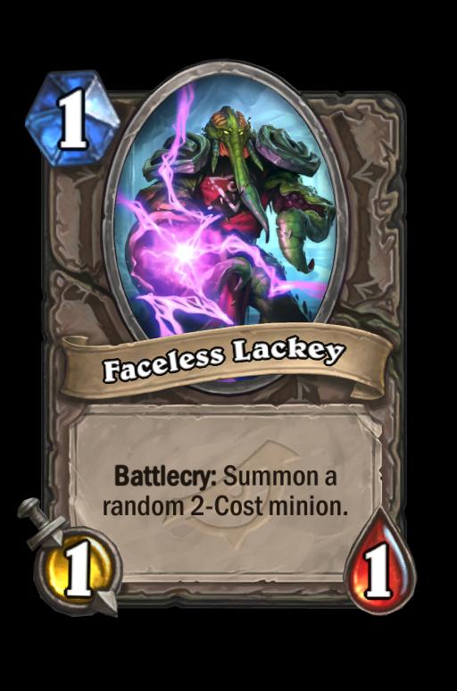 Faceless Lackey Hearthstone kártya