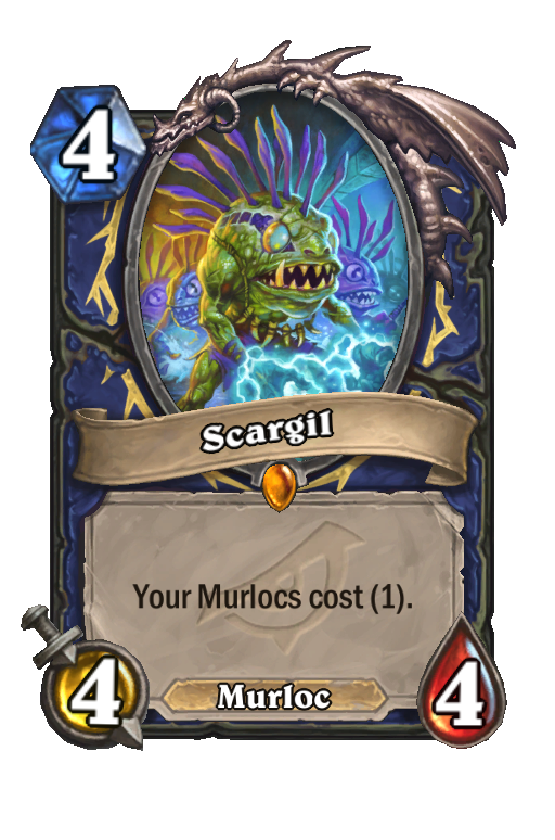 Scargil Hearthstone kártya