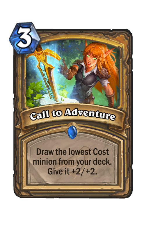 Call to Adventure Hearthstone kártya
