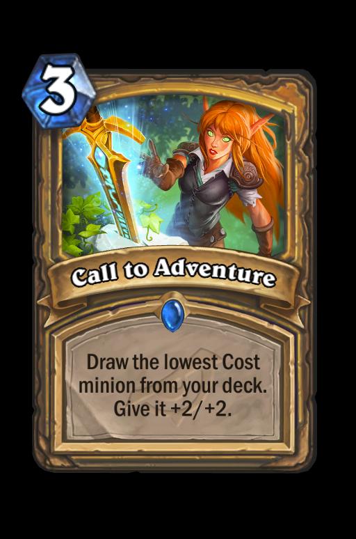 Call to Adventure Hearthstone kártya