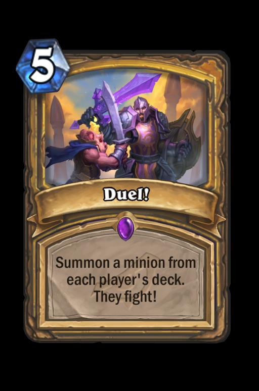 Duel! Hearthstone kártya