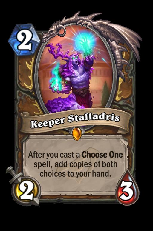 Keeper Stalladris Hearthstone kártya
